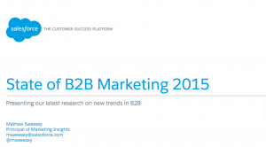State of B2B Marketing: Dreamforce, San Francisco 2015